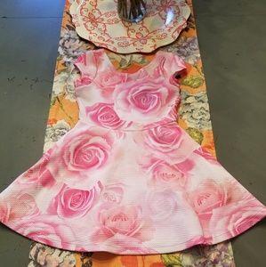 EUC children's place, rose pattern dress